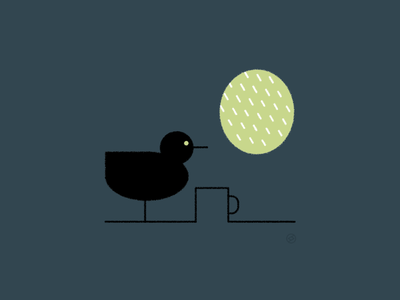 Staying Home rain hole window home nest bird conceptual black accent shape geometric vector simple minimal illustration