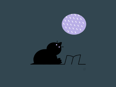 Staying Home rain mole hole window nest home conceptual black accent shape geometric vector simple minimal illustration