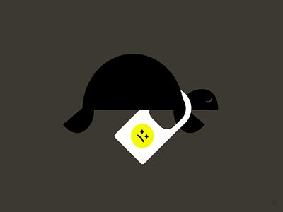 Let's Do More for Less Plastic environment pollution plastic turtle conceptual black accent shape geometric vector simple minimal illustration