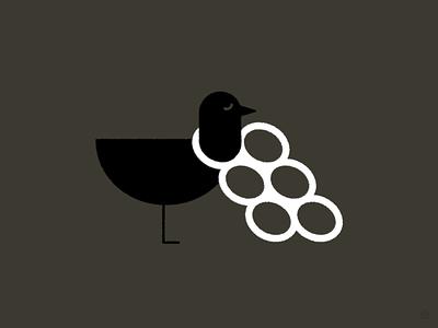 Let's Do More for Less Plastic environment pollution plastic bird conceptual black accent shape geometric vector simple minimal illustration