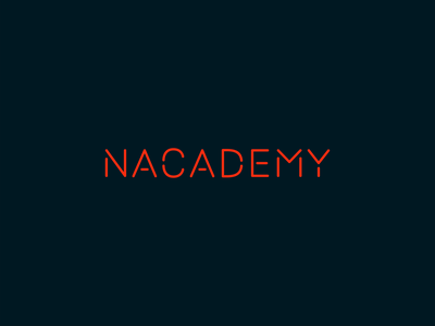 Nacademy Logo academy stickers logo education graphic design design branding