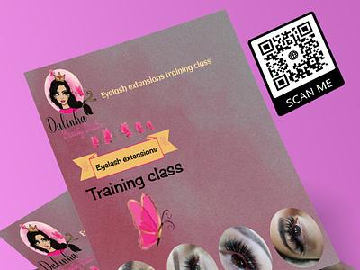 Flyer 10 gift card logo design vector beauty salon makeup artist branding illustration glitter design flyer artwork flyer template flyer design flyer