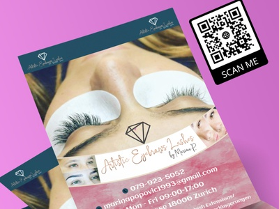Flyer 27 vector beauty salon makeup artist logo design branding illustration glitter design flyer template flyer artwork flyer design flyers flyer