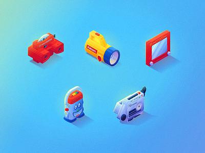 Play Things (Icons) icons toys isometric ux ui
