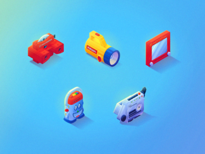 Play Things (Icons) icons toys isometric ux ui