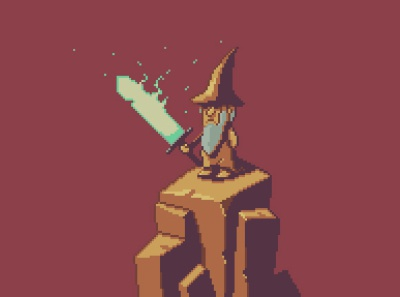 wizard! color indiegame iosgame androidgame illustration characterdesign videogame mobilegame pixel art