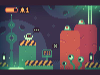 Space! pixel art pixel illustration pixelart interface indiegame iosgame androidgame videogame mobilegame