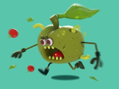 monster apple! freelance 3d interface mobilegame