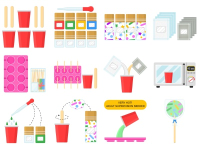 illustrations icons lollipops sweets kids illustration candy sweets lolipop adobe illustrator vectorillustrator flatvector icon set flat illustration