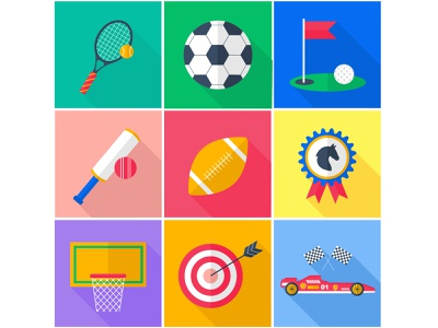 A set of flat vector icons. Sport. flat illustration icons set flat vector sport vector illustration sport icons