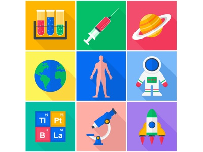 A set of flat vector icons. Science. sciense illustration sciense icons adobe illustrator vector icons set flat vector illustration