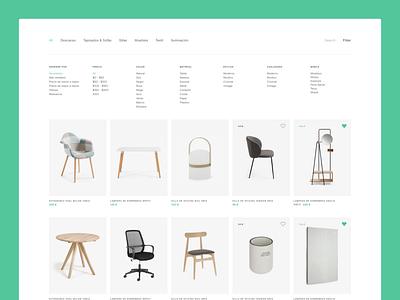Product Archive with Filter branding logo illustration design adobe illustrator ecommerce minimal ui figma web design