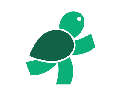 Running Turtle logo icon turtle