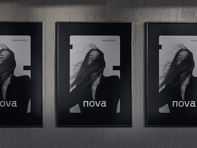 Nova typography logo nordic noir nordic fashion brand clothing logotype brand identity black and white branding fashion
