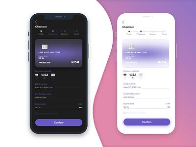 Credit Card Checkout Form – Daily UI #002 dailyui glassmorphism form credit card design figma ui