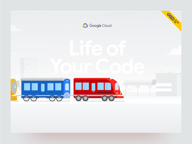 Life of Your Code - Google Cloud Showcase fwa site of the day engines code trains motion graphic illustrations ux design ui design google cloud websites web design
