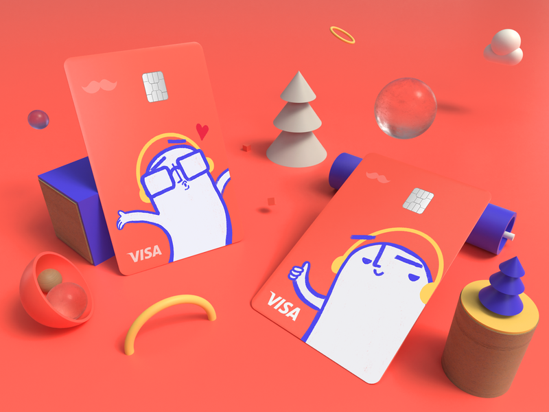 Rappi Pay Credit Card Design character design character 2d branding design payment method man woman card design rappi credict card rappi pay rappi payment app payments credit card design credit cards credit card