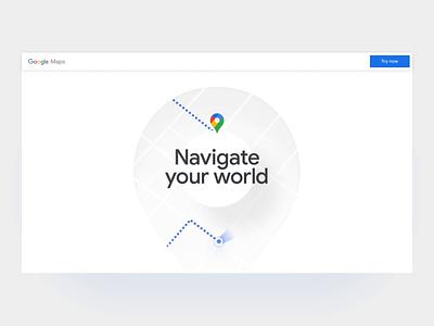 Google Maps New Website Concept ux ui design web design website gmaps google maps google maps