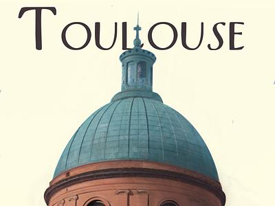 Toulouse patrimoine typography toulouse logo visualdesign illustration