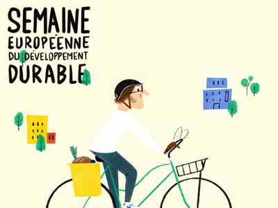 Sustainable development Week in France design graphic branding graphicdesign toulouse visualdesign illustration