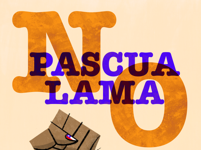 Victory ! Non the Gold mine of Pascua Lama typography logo graphicdesign toulouse visualdesign illustration