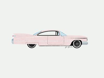 Old Cadillac toulouse graphicdesign design visualdesign procreate cadillac illustration