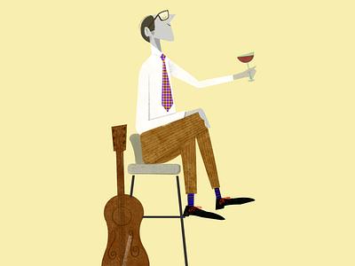 Jazz & Wine graphic design graphicdesign toulouse visualdesign illustration