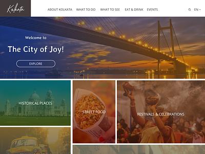 Kolkata Landing Page designchallenge weeklywarmup landingpage