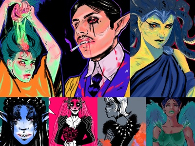This is Halloween vampire spooktober scary monstermania monster illustration design illustration illustration art design halloween