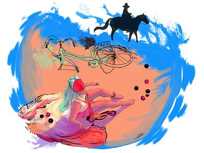 911 fanart illustration art illustration design illustrator digitalart gaga chromatica 911 ladygaga