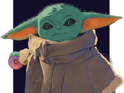 This is the way. adorable science fiction star wars the mandalorian starwars procreate illustration design digitalart illustration illustration art themandalorian baby yoda