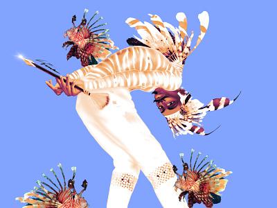 The Lion-Fish characterdesign character design procreate digitalart illustration illustration design illustration art