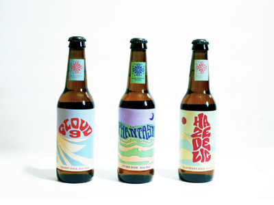 Branding and Packaging // Kaleidoscope Brewery labels label packaging bottle illustrative colorful kaleidoscope beer liqour branding logo illustration graphic design graphic design