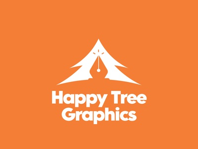 Happy Tree Graphics logotypes happy tree graphics design graphicdesign freelance minimal bobross branding logotype logo design logo