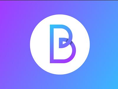 B design logo branding