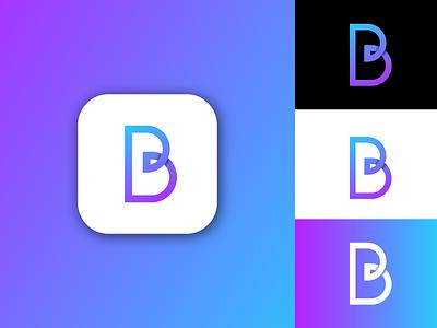 B b logo design monogram design logo branding