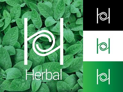 Herbal h monogram h logo logo design monogram logo branding