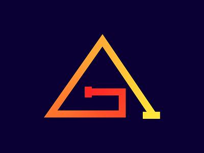 AG Monogram Logo modern design logo design monogram logo branding