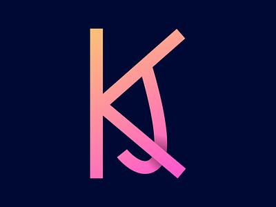 KJ Monogram Logo monogram logo design logo design monogram logo branding