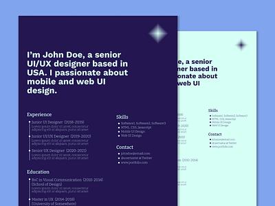 Freebie | Resume/CV Template Free Download design graphic design resume cv freebies free