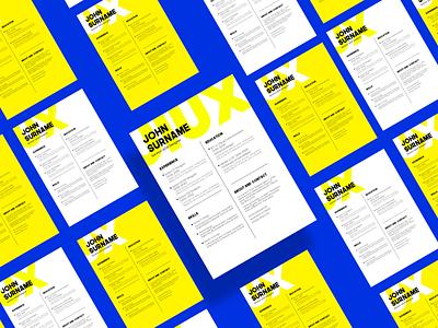 Freebie | Resume/CV Five Figma Design freebies resume cv print graphic design