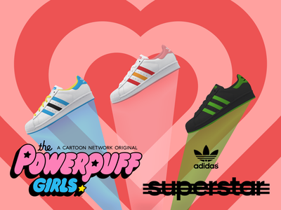Adidas Superstar Powerpuff Girls powerpuff girls girl power power style adidas originals superstar adidas shoes nike icon logo design branding