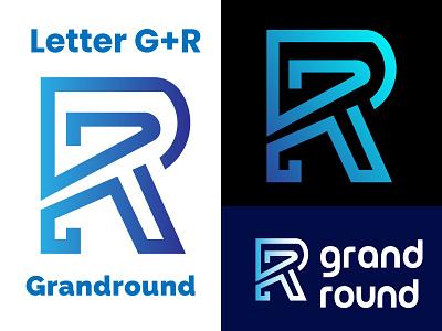 Letter G+R (Grand Round) Modern Logo grand round logo modern letter logo graphic design design logo modern logo simple logo illustration creative logo