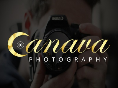 Canava Photography Logo canava photographer camera photography modern logo simple logo illustration creative logo