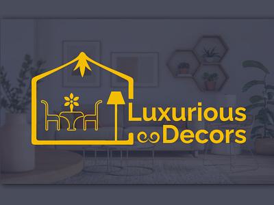Luxurious Decors Logo Design home decoration decoration logo decorator decorative house illustration design decoration logo luxurious decor home decor luxurious house luxurious creative logo