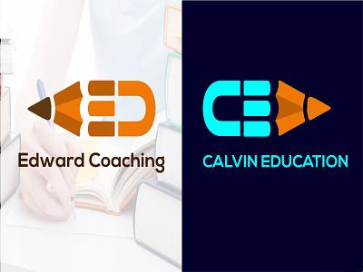 Edward Coaching and Calvin Education Logo web logo profile logo minimal logos icon logo graphic design flat clean logo brand branding app logo 3d design logo modern logo illustration creative logo