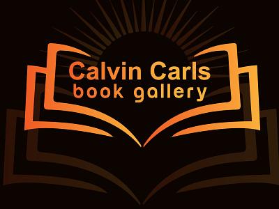 Calvin Carls Book Gallery Logo art illustrator web logo gallery logo icon app icon 2d minimal flat book graphic design 3d vector branding design logo simple logo modern logo creative logo illustration