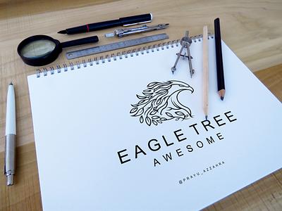 Eagle tree logo design ui branding illustration creative modern logo abstract typography ilustrations eagle design vector design llogo eagle logo eagle