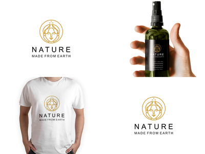 Nature made from earth logo design illustration design creative branding motion graphics modern abstract typography logo vector graphic design 3d ui animation earth logo design nature