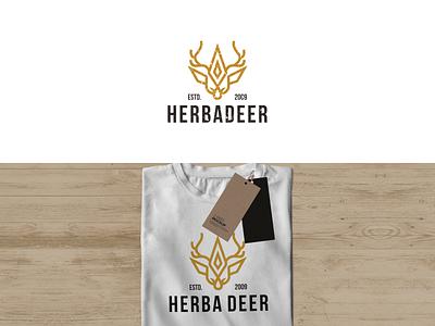 Herba Deer logo design dribble motion graphics graphic design 3d animation ui branding illustration creative design modern abstract typography vector logo deer deer logo design